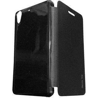 detailed look b1019 0ec2c TBZ Flip Cover Case for HTC Desire 728 -Black