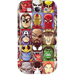 Absinthe Super Heroes and Villains Back Cover Case For Samsung Galaxy S3