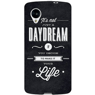 Absinthe Quote Back Cover Case For Google Nexus 5