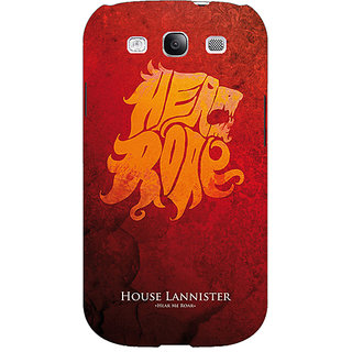 Absinthe Game Of Thrones GOT House Lannister  Back Cover Case For Samsung Galaxy S3