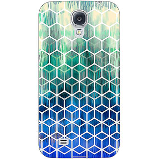 Absinthe Blue Hexagon Pattern Back Cover Case For Samsung Galaxy S4 I9500