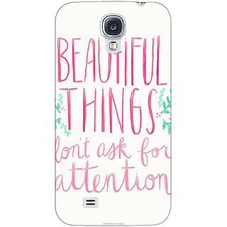 Absinthe Beautiful Quote Back Cover Case For Samsung Galaxy S4 I9500