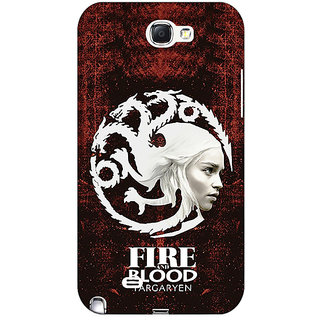 Absinthe Game Of Thrones GOT House Targaryen  Back Cover Case For Samsung Galaxy Note 2 N7100