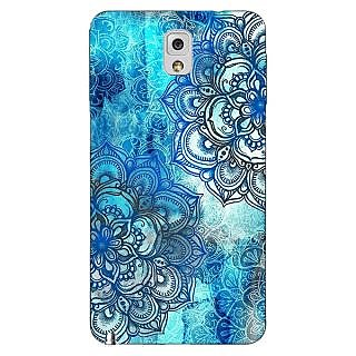 Absinthe Blue Floral Doodle Pattern Back Cover Case For Samsung Galaxy Note 3 N9000