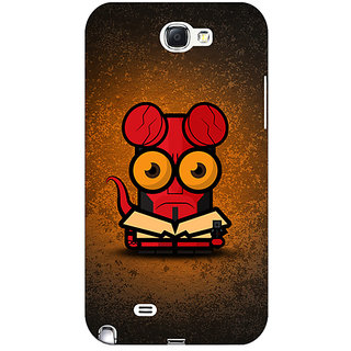 Absinthe Big Eyed Superheroes Hell Boy Back Cover Case For Samsung Galaxy Note 2 N7100