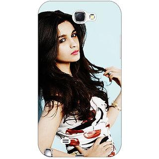 Absinthe Bollywood Superstar Alia Bhatt Back Cover Case For Samsung Galaxy Note 2 N7100