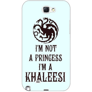 Absinthe Game Of Thrones GOT Princess Khaleesi Back Cover Case For Samsung Galaxy Note 2 N7100