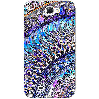 Absinthe Paisley Beautiful Peacock Back Cover Case For Samsung Galaxy Note 2 N7100