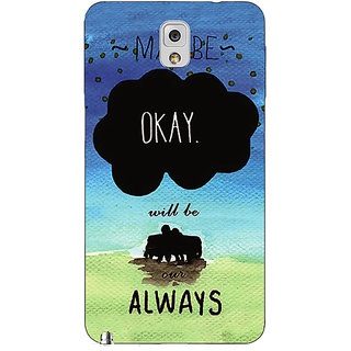 Absinthe TFIOS Maybe OKAY will be Our Always 2  Back Cover Case For Samsung Galaxy Note 3 N9000