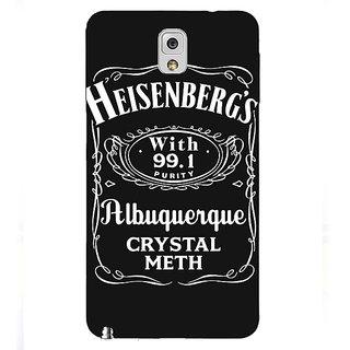 Absinthe Breaking Bad Heisenberg Back Cover Case For Samsung Galaxy Note 3 N9000