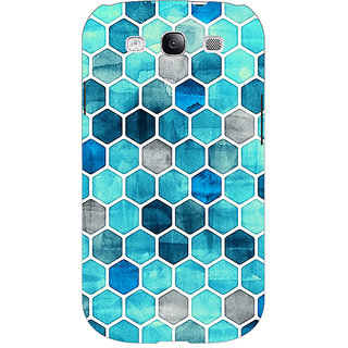 Absinthe Blue Hexagons Pattern Back Cover Case For Samsung Galaxy Grand Duos I9082
