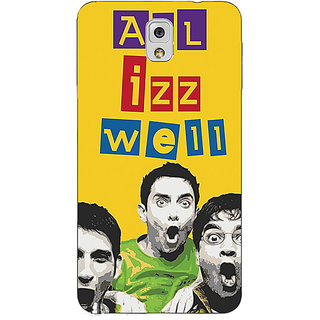 Absinthe Bollywood Superstar Three Idiots All is Well Back Cover Case For Samsung Galaxy Note 3 N9000