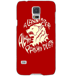 Absinthe Game Of Thrones GOT House Lannister  Back Cover Case For Samsung Galaxy S5