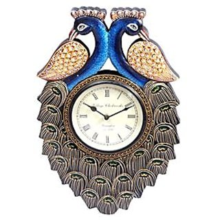 antique peacock...design wall clock