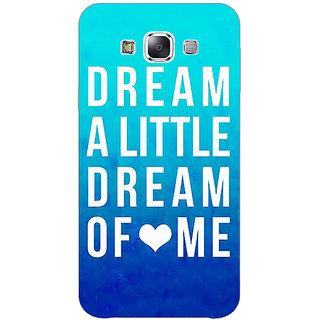 Absinthe Dream Love Back Cover Case For Samsung Galaxy E7