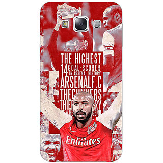Absinthe Arsenal Therry Henry Back Cover Case For Samsung Galaxy E7