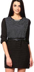 OVIYA Black Poplin Dress