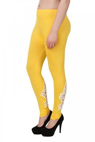You Forever Yellow Designer Viscose Lycra Leggings