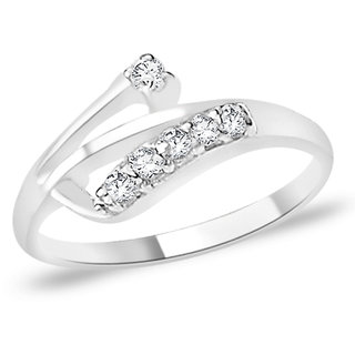 Sterling Silver  CZ Finger Ring By Taraash