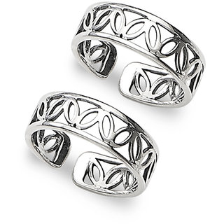 Sterling Silver  Cutwork Toe Ring By Taraash