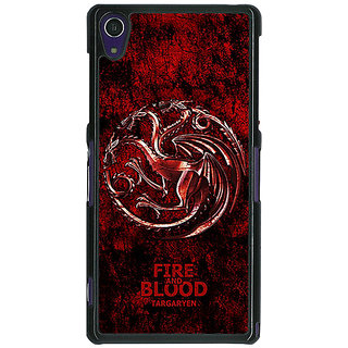 Absinthe Game Of Thrones GOT House Targaryen  Back Cover Case For Sony Xperia Z1