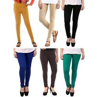 Stylobby Multi Color Legging Pack Of 6 MuBeBBlBrG6