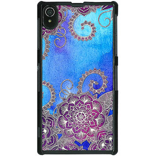Absinthe Girly Floral Pattern Back Cover Case For Sony Xperia Z2
