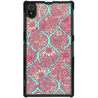 Absinthe Pink Morroccan Pattern Back Cover Case For Sony Xperia Z2