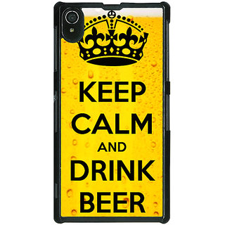 Absinthe Beer Quote Back Cover Case For Sony Xperia Z2