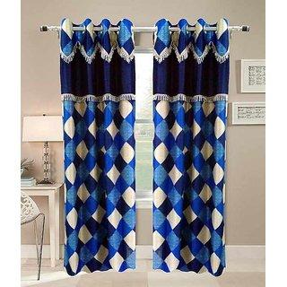 shiv shankar handloom set of 2 Window Curtains (5x4 Feet)
