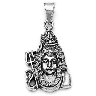 Sterling Silver  CZ Shivji Pendant By Taraash
