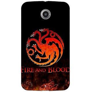 Absinthe Game Of Thrones GOT House Targaryen  Back Cover Case For Google Nexus 6