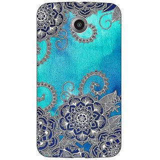 Absinthe Blue Doodle Pattern Back Cover Case For Google Nexus 6