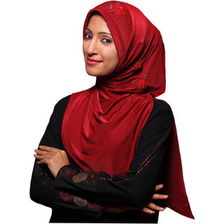 Daxia Soft and Shiny Double color Stretchable Hijab