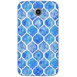 Absinthe White Blue Moroccan Tiles Pattern Back Cover Case For Google Nexus 6