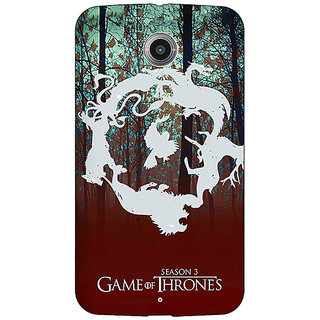 Absinthe Game Of Thrones GOT Houses Back Cover Case For Google Nexus 6