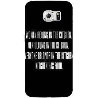 Absinthe Kitchen Quote Back Cover Case For Samsung S6
