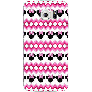 Absinthe Minnie Mouse Pattern Back Cover Case For Samsung S6