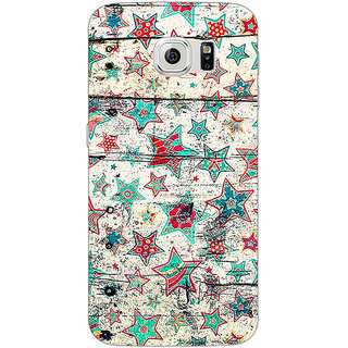 Absinthe Funky Stars Pattern Back Cover Case For Samsung S6