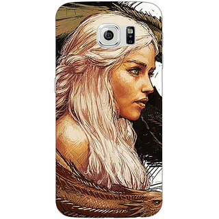 Absinthe Game Of Thrones GOT Khaleesi Daenerys Targaryen Back Cover Case For Samsung S6