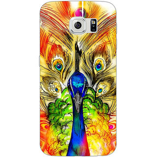 Absinthe Paisley Beautiful Peacock Back Cover Case For Samsung S6