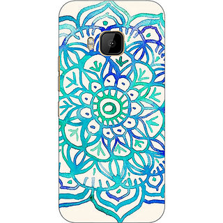 Absinthe Panda Pattern Back Cover Case For HTC M9