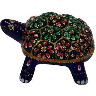 Cottage Handicraft Meenakari Turtle Metal gift item