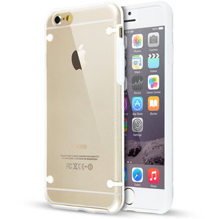Ultra Thin Crystal Gel Soft TPU Back Case Cover For Apple iPhone 6/6S 4.7-WHITE