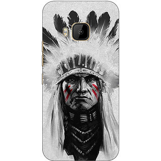 Absinthe Triabl Man Back Cover Case For HTC M9