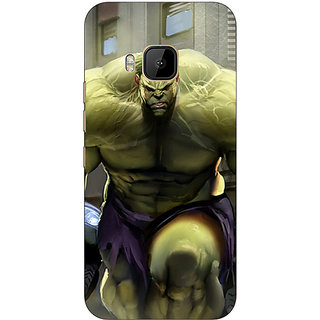 Absinthe The Incredible Hulk Back Cover Case For HTC M9