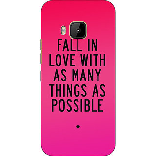 Absinthe Quotes Love Back Cover Case For HTC M9