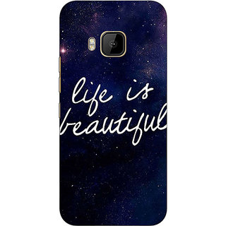 Absinthe Quotes Life is Beautiful Back Cover Case For HTC M9