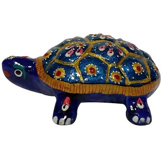 Cottage Handicraft Meenakari Tortoise Metal gift item