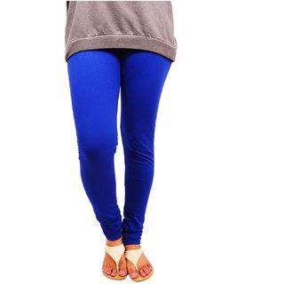 V Cut Special Womens Cotton Royal Blue Leggings